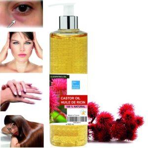 aceite de ricino en el shampoo